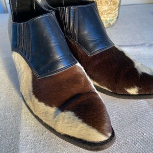 Greater LA western cowhide shoes